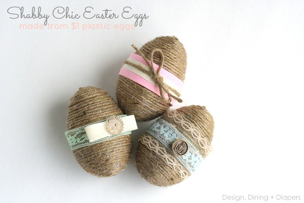 Shabby Chic Easter Eggs. Get the tutorial