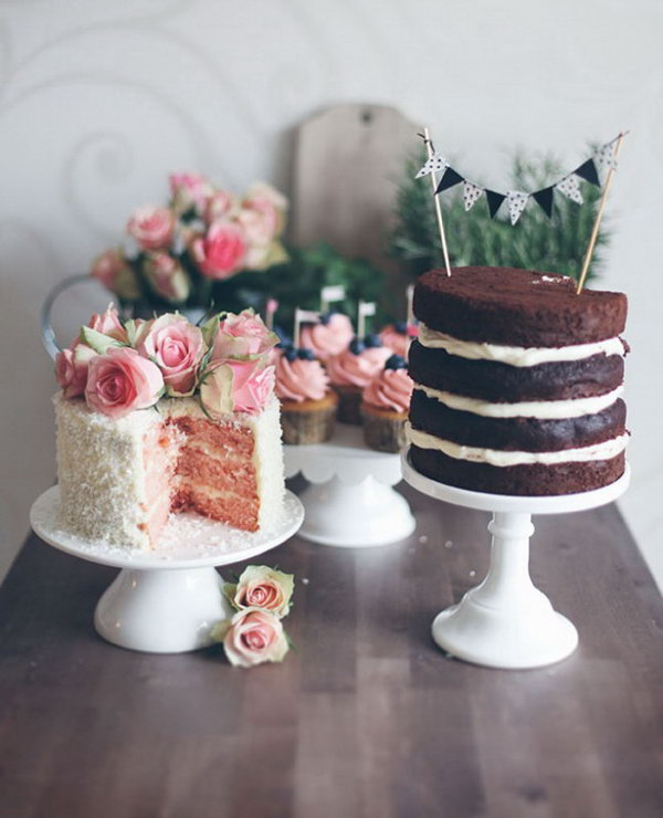 Cake Duo for Baby Shower.