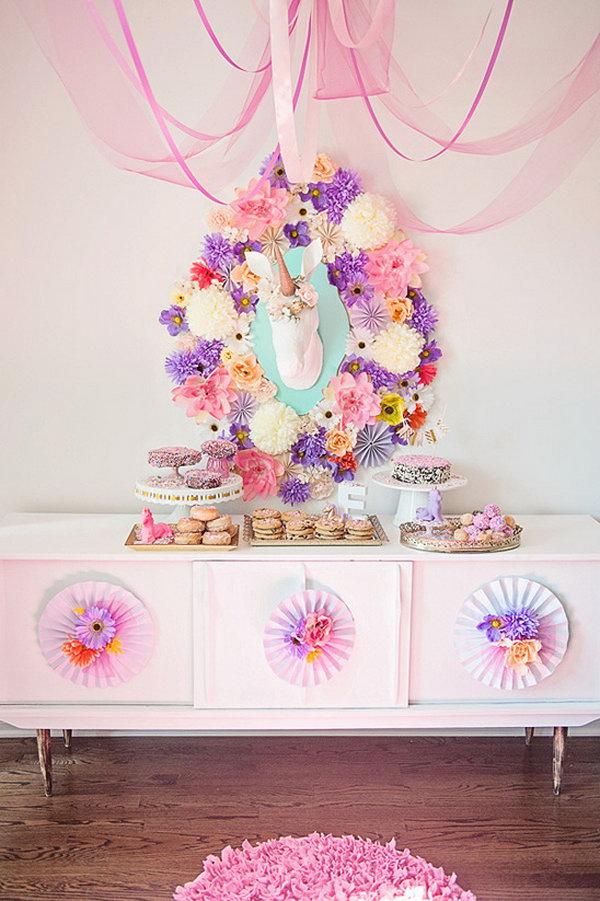 Whimsical Unicorn Baby Shower Theme.