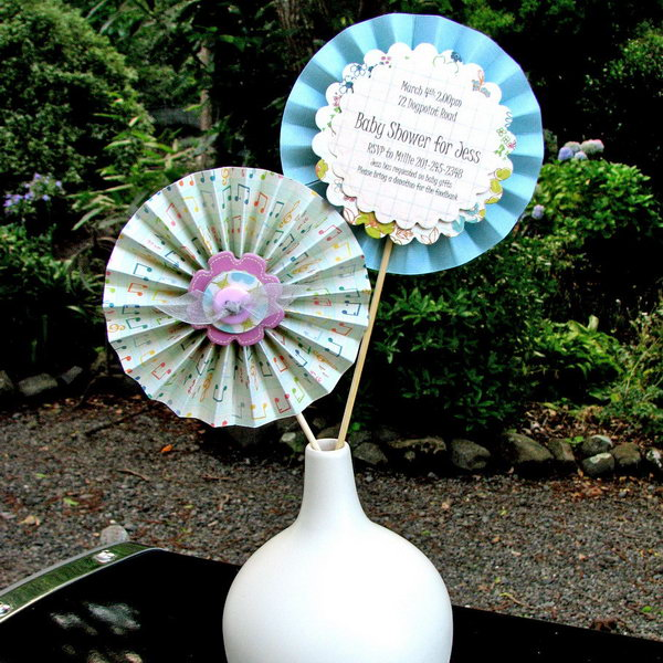 Ruffle Flower Invitations.