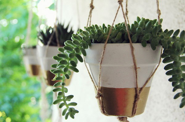 Simply Gold Planter. See how