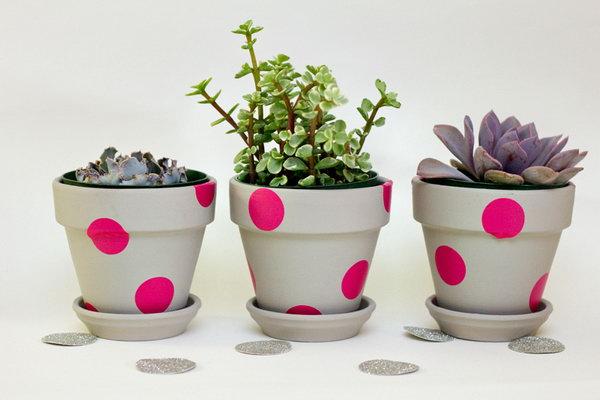 Pink Polka Dots Pots. See more