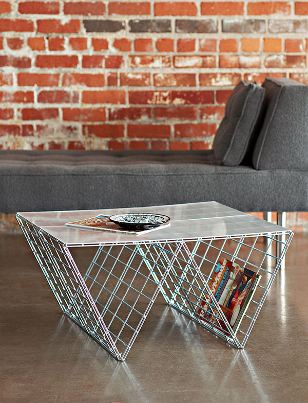 DIY Wire Side Table. See more instructions
