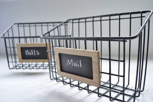 Mail Baskets. Check out the tutorial