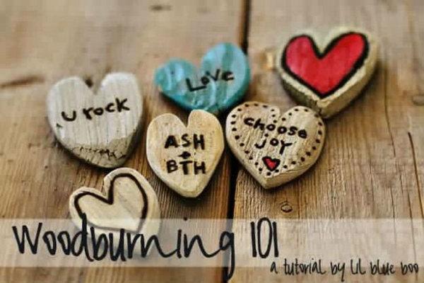 DIY Driftwood Heart Notes