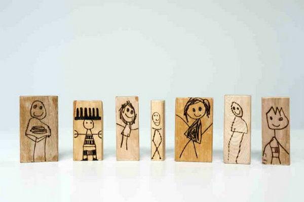 DIY Wood Burned Doll Blocks