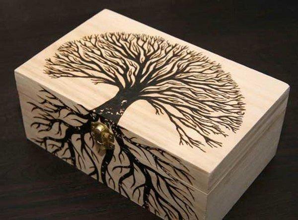 Fabulous Woodburned Treasure Box