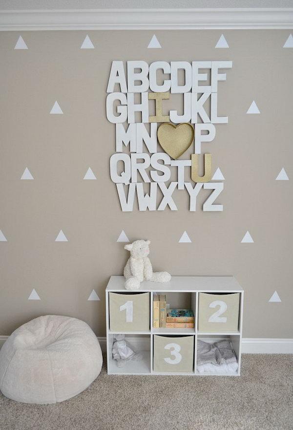 DIY Paper Mache Alphabet Wall.