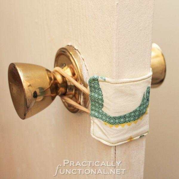 DIY Nursery Door Latch Cover. See the steps