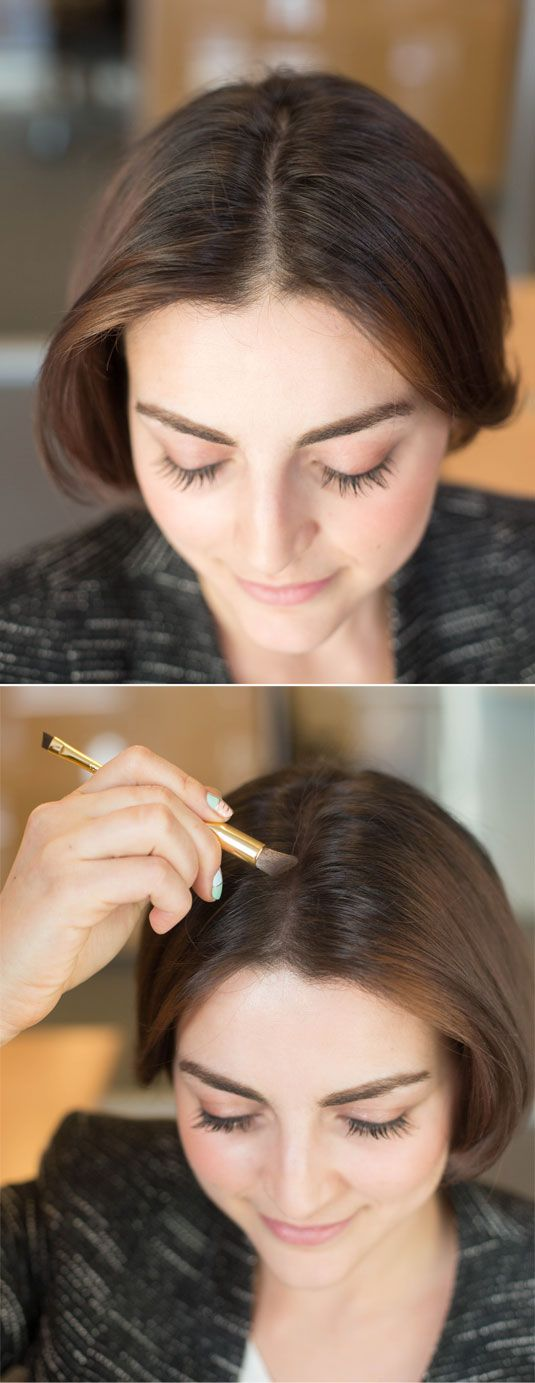 Making Your Hair Appear Thicker with Eyeshadow .