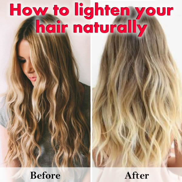 How to Lighten Hair Naturally at Home.
