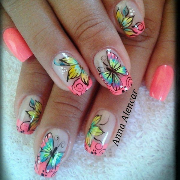 Wonderful Butterfly Nails.