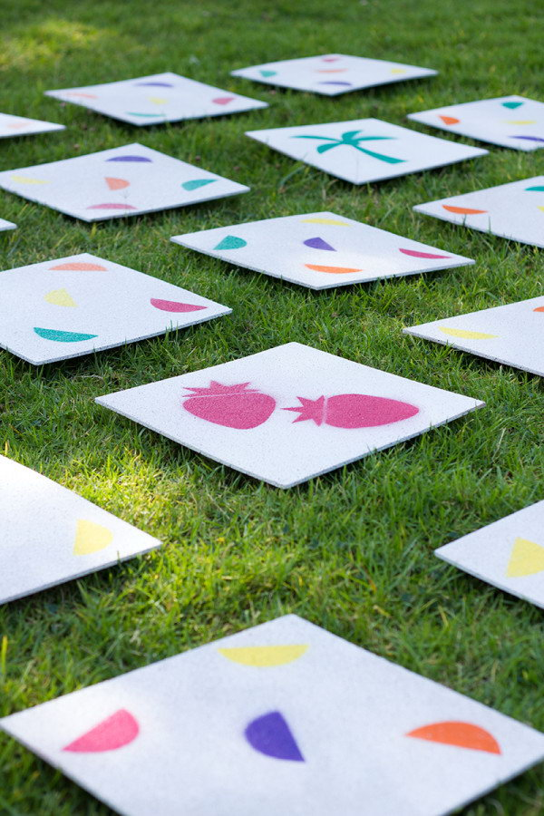 DIY Giant Lawn Matching Game. See the directions