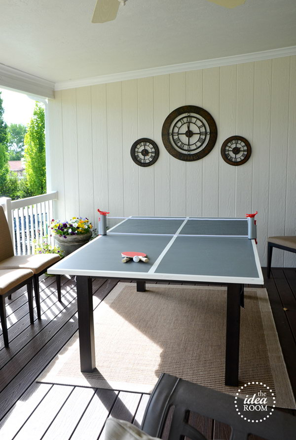 DIY Ping Pong Table. Check out the instructions