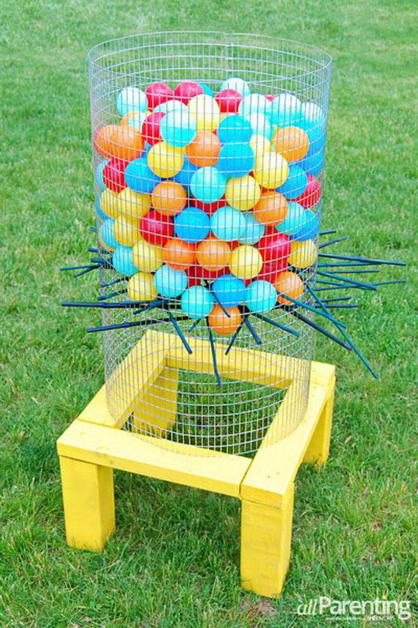 Jumbo Backyard Ker Plunk Game. Get the full directions