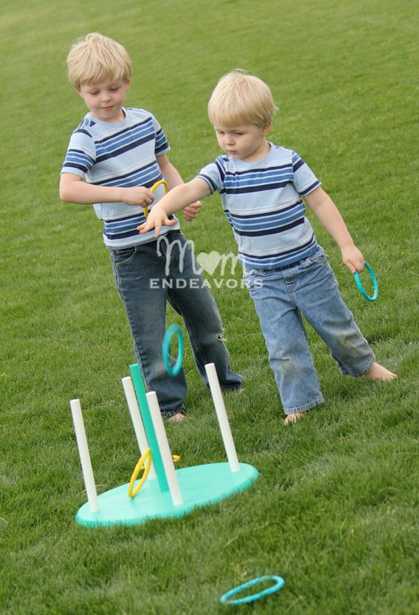 DIY Ring Toss Game. Get the tutorial