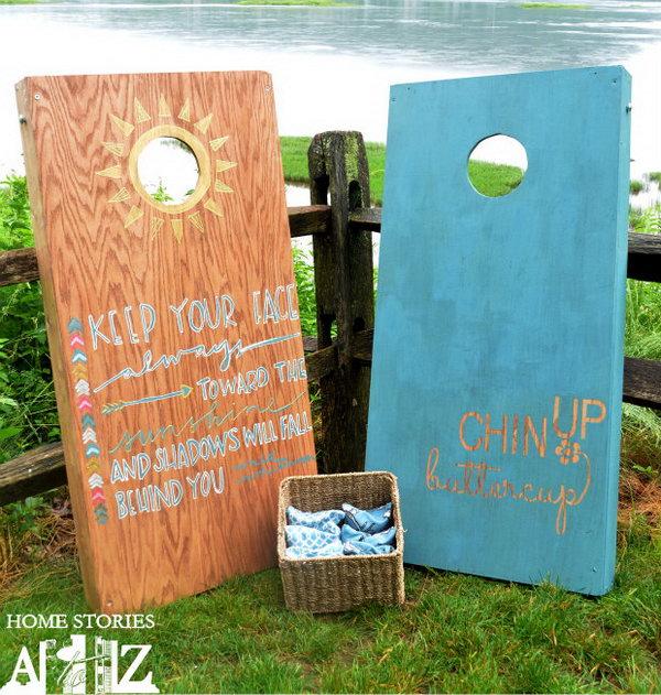 DIY Cornhole Board. Get the tutorial