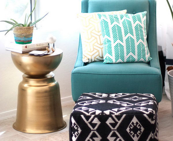 DIY West Elm Inspired Side Table. Get the directions