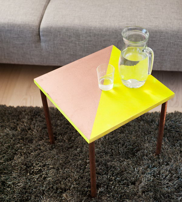 Rad Copper Tubing Side Table. Get the full tutorial