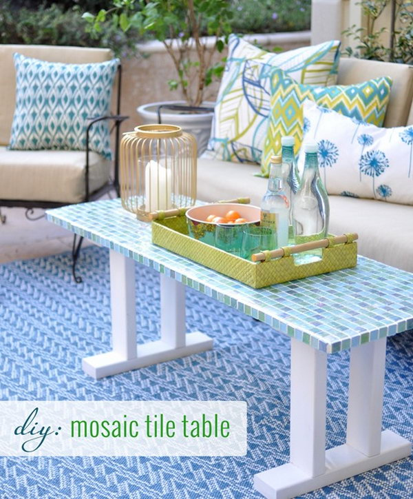 DIY Tile Outdoor Table. Check out the full tutorial