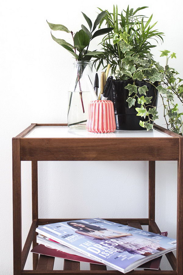 IKEA Bedside Table Hack. See the directions