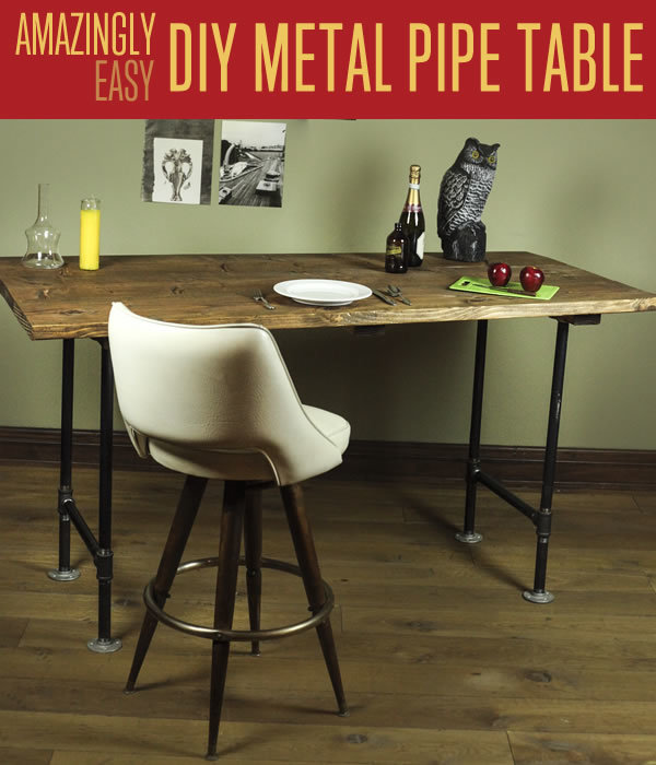 Rustic Pipe Legs Table. See the directions