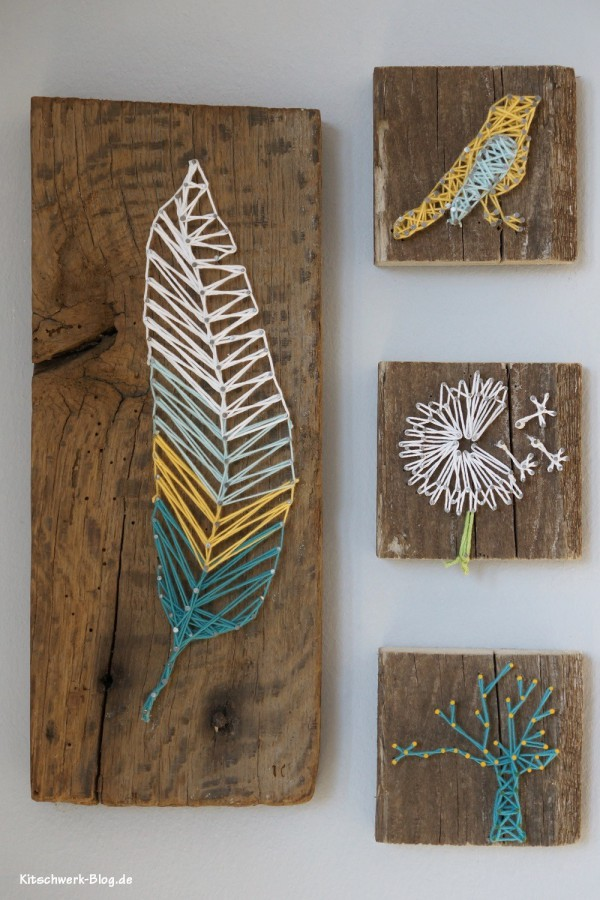 DIY Nagel und Faden Bild String Art. Get more details