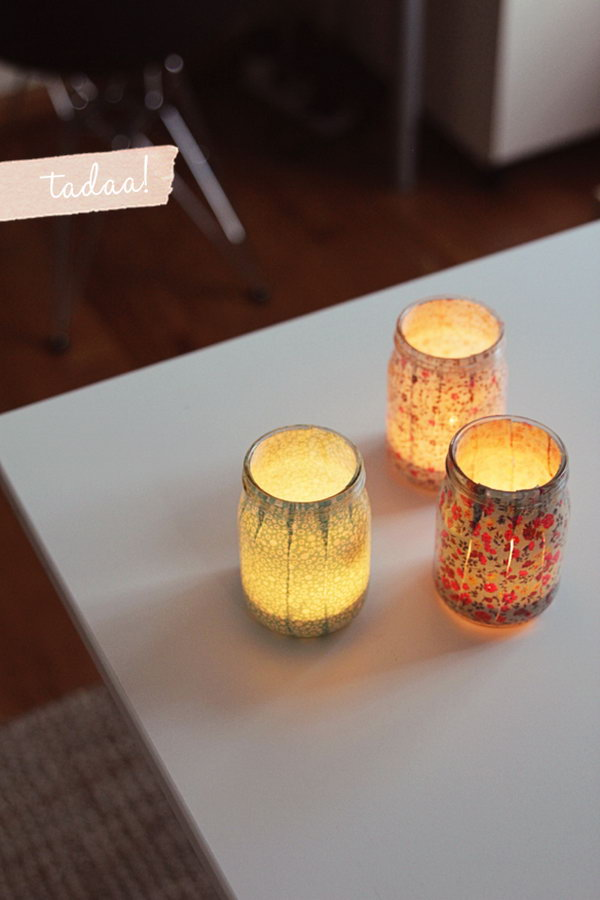 Sweet DIY Votives to Create a Dreamy and Romantic Dorm Room. See how