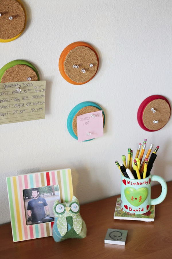 Mini Bright Corkboards. Get the tutorial