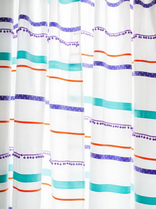 Customize Curtains With Ribbon Trim. See how