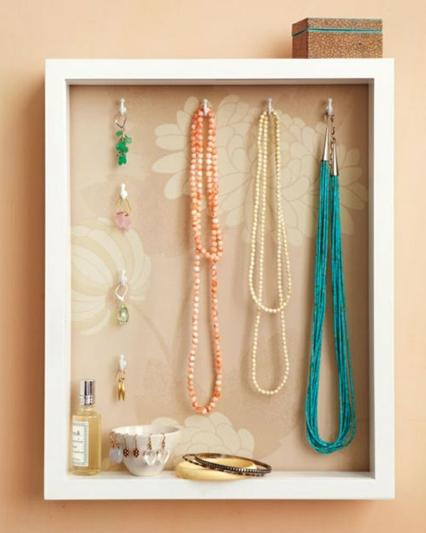 DIY Shadow Box Jewelry Holder. Get the steps