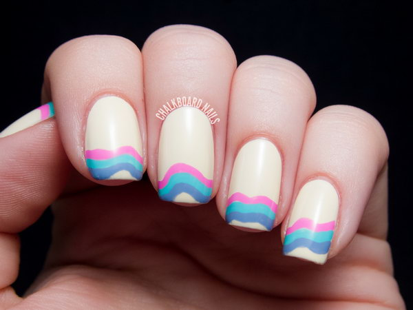 Wavelength French Manicure. Get the tutorial