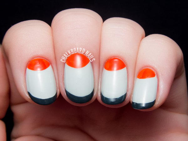 Mod Half Moon and French Nails. See the steps