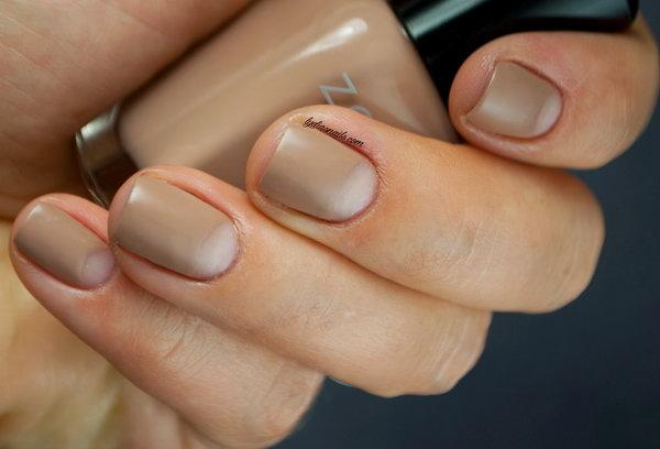 Nude Half Moon Nails. Get the tutorial