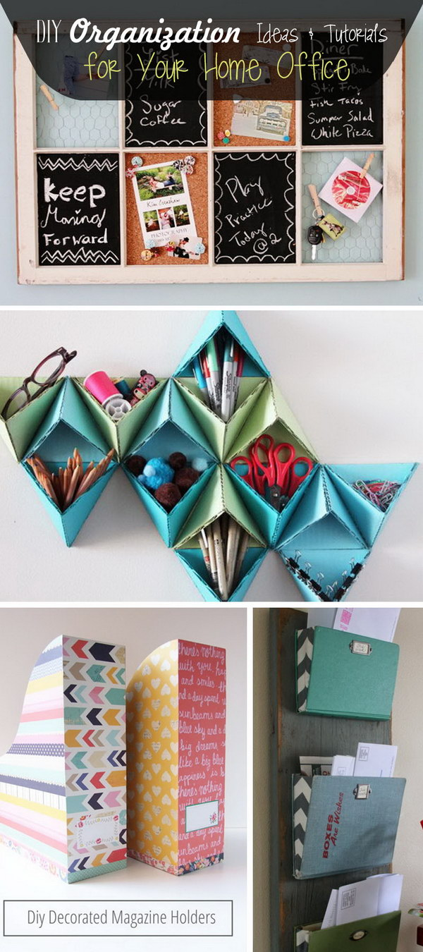 DIY Organization Ideas and Tutorials for Your Home Office!