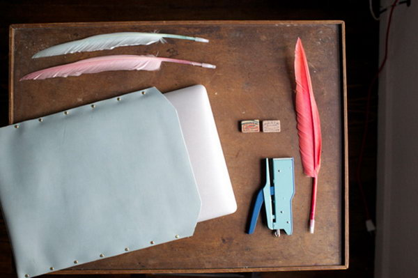 DIY Leather Laptop Case. See how