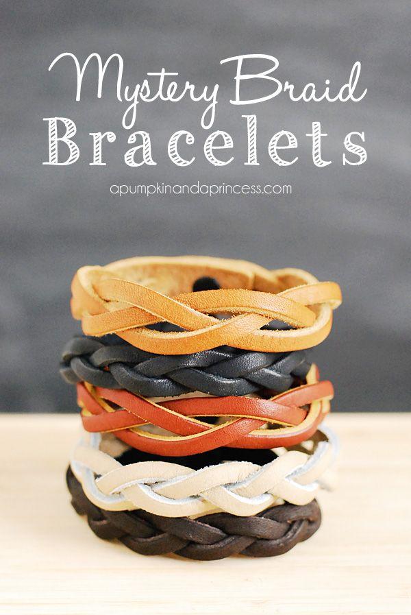 DIY Leahter Braid Bracelet.