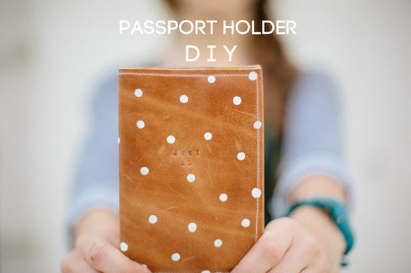 DIY Leather Passport Holder. See the full tutorial
