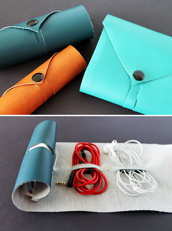 DIY Leather Cord Roll. Get the steps