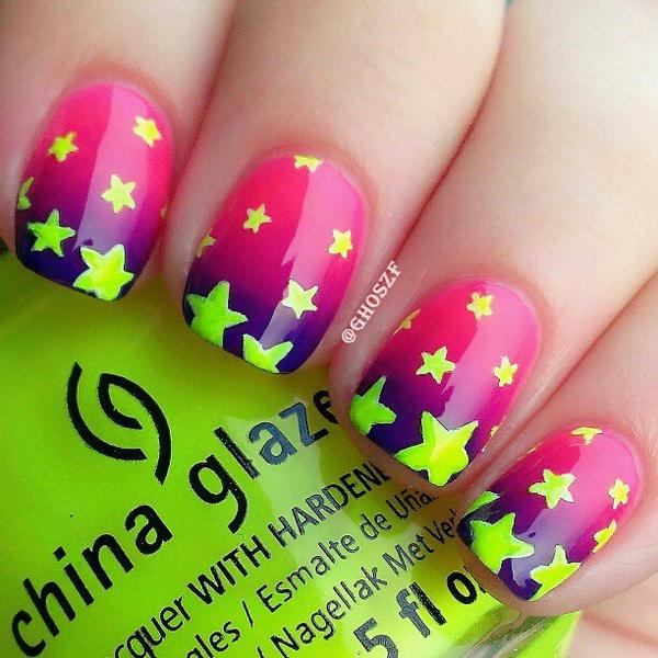 Star Neon Nails.