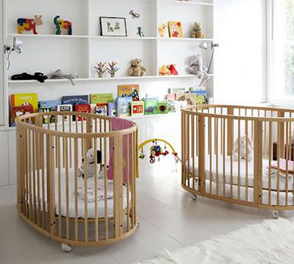 Double Cribs in the Nursery.