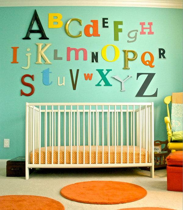 Mismatched ABCs Wall Art.