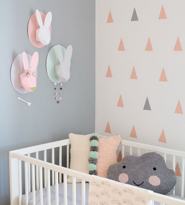 Blush and Grey Platter for Nursery Decoration.