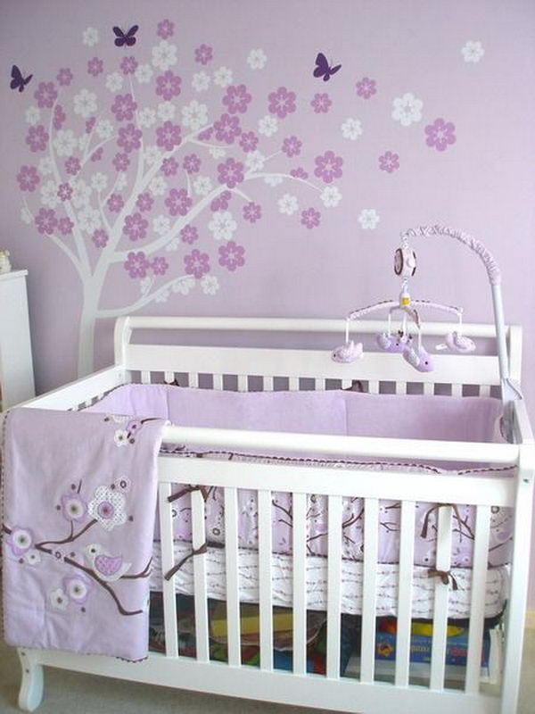 Purple Baby Girl Nursery.