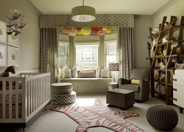 Safari Theme Baby Girl's Room.