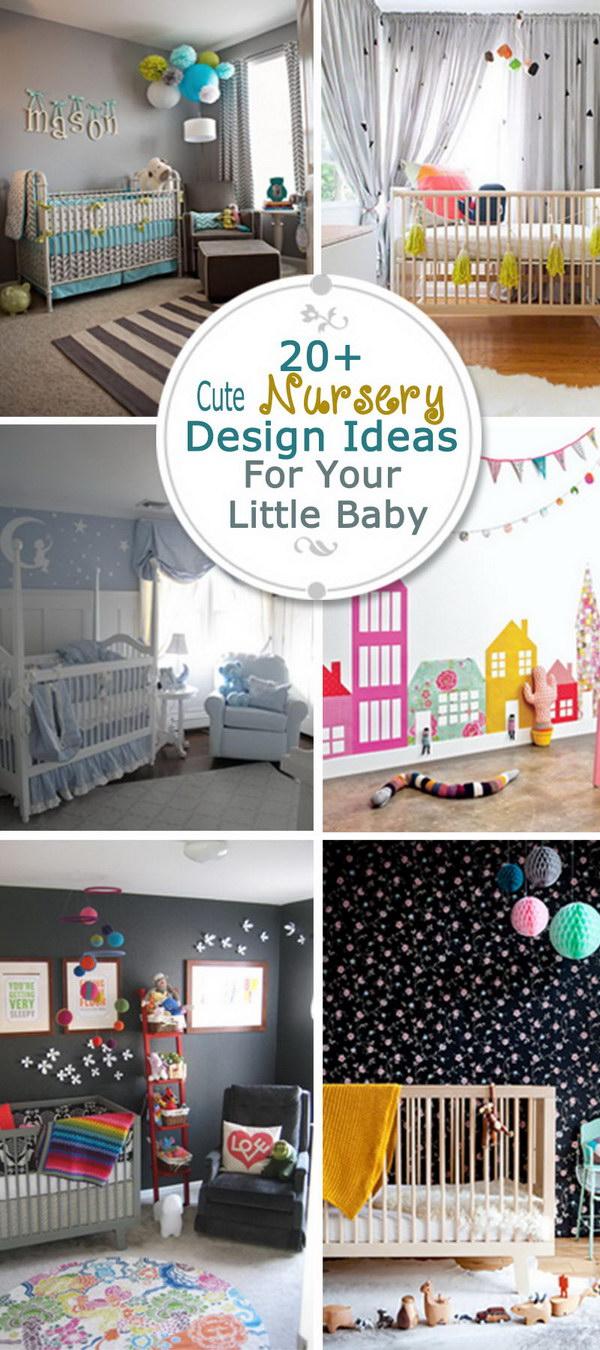 Cute Nursery Design Ideas For Your Little Baby!