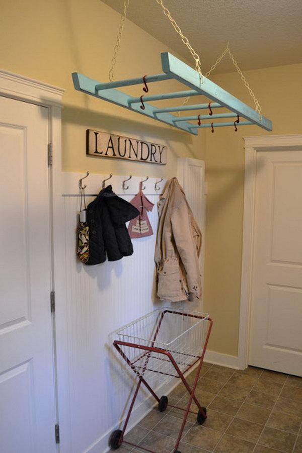 Ladder Laundry Rack.