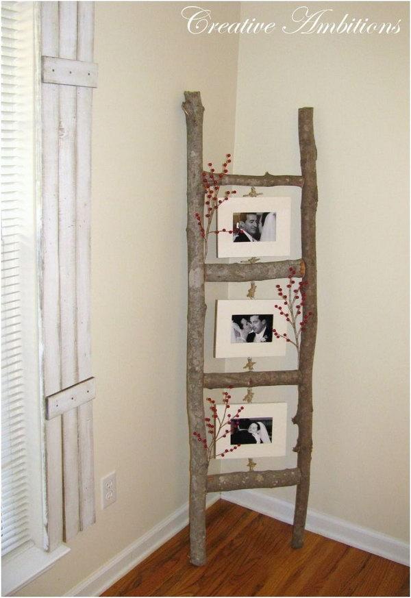 Ladder Photo Display.