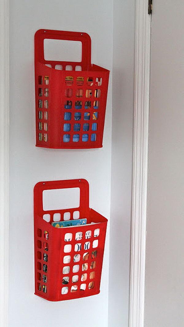IKEA Waste Basket Book Storage. See more details