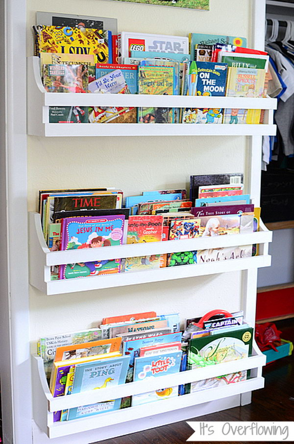 Clever DIY Ideas to Organize Books for Your Kids - Noted List